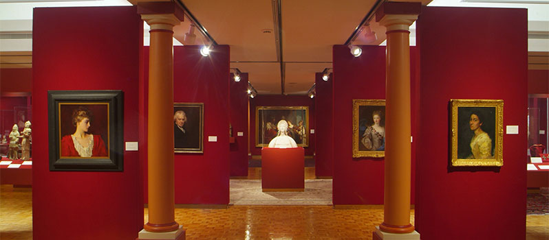 Interior of the Mabee-Gerrer Museum of Art