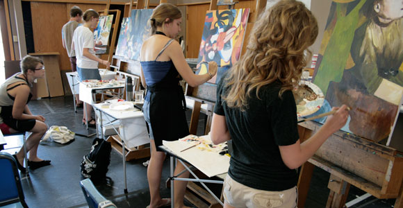 Students at the Oklahoma Arts Institute